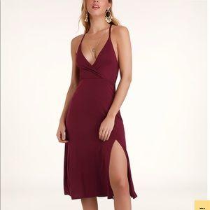 Lulus Burgandy dress